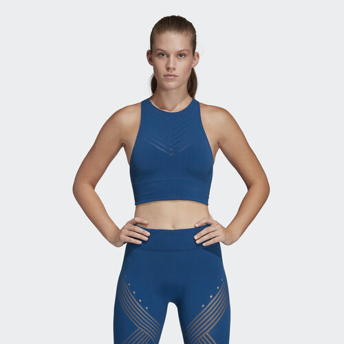 adidas - Warp Knit Crop Top Legend Marine DW8880