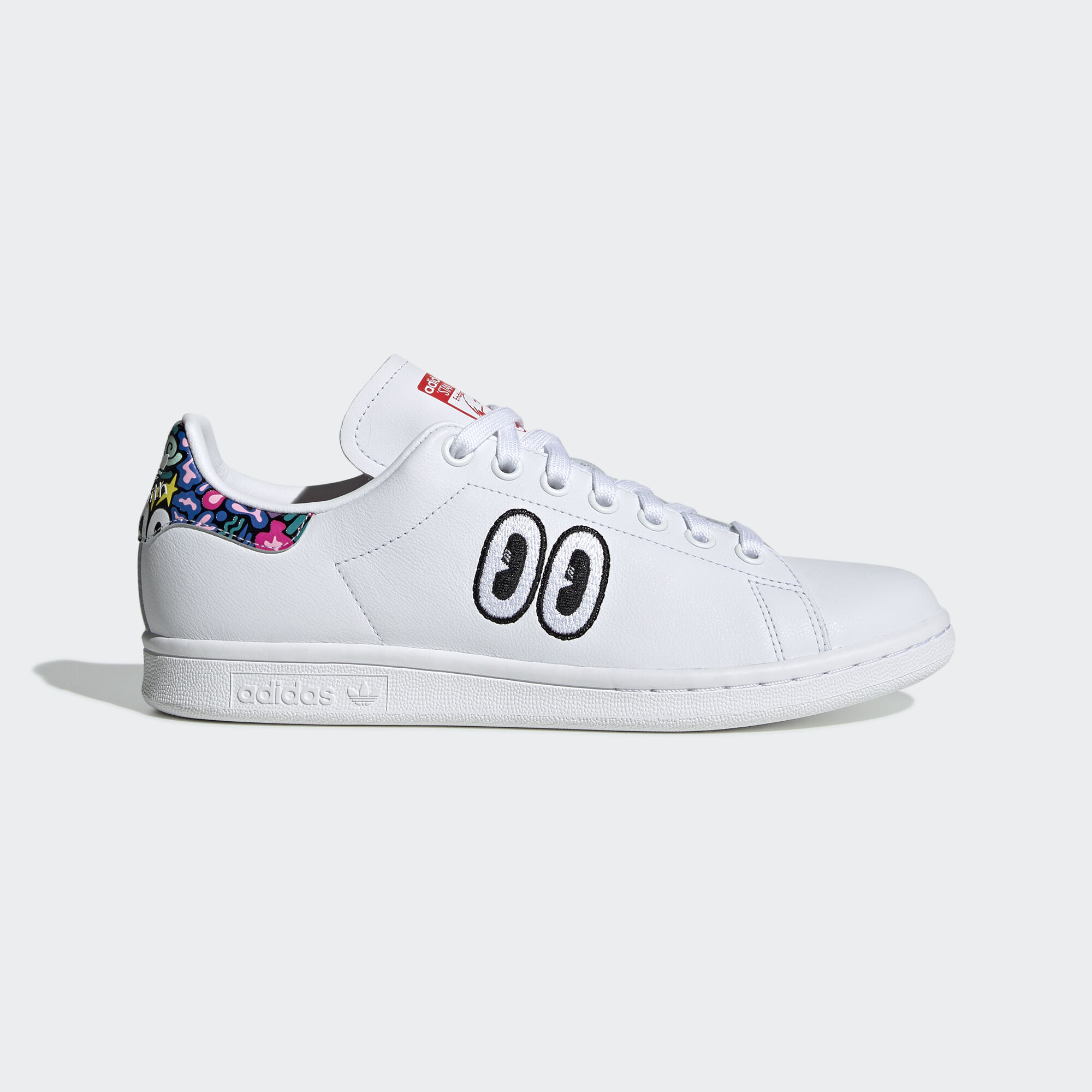 adidas - Stan Smith Shoes Ftwr White / Active Red / True Pink CM8417