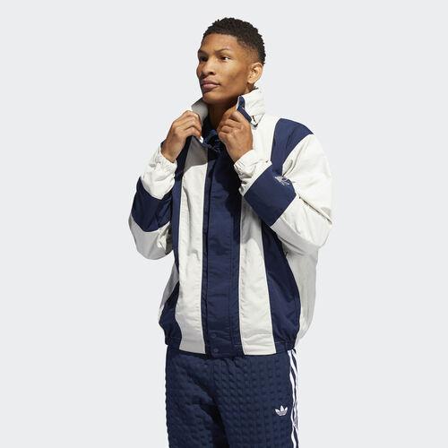 adidas - Bailer Wind Jacket Raw White / Collegiate Navy DV3103