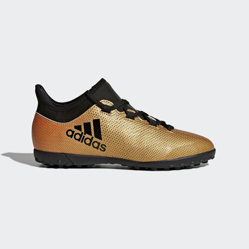 adidas - X Tango 17.3 Turf Boots Tactile Gold Met./Core Black/Solar Red CP9024