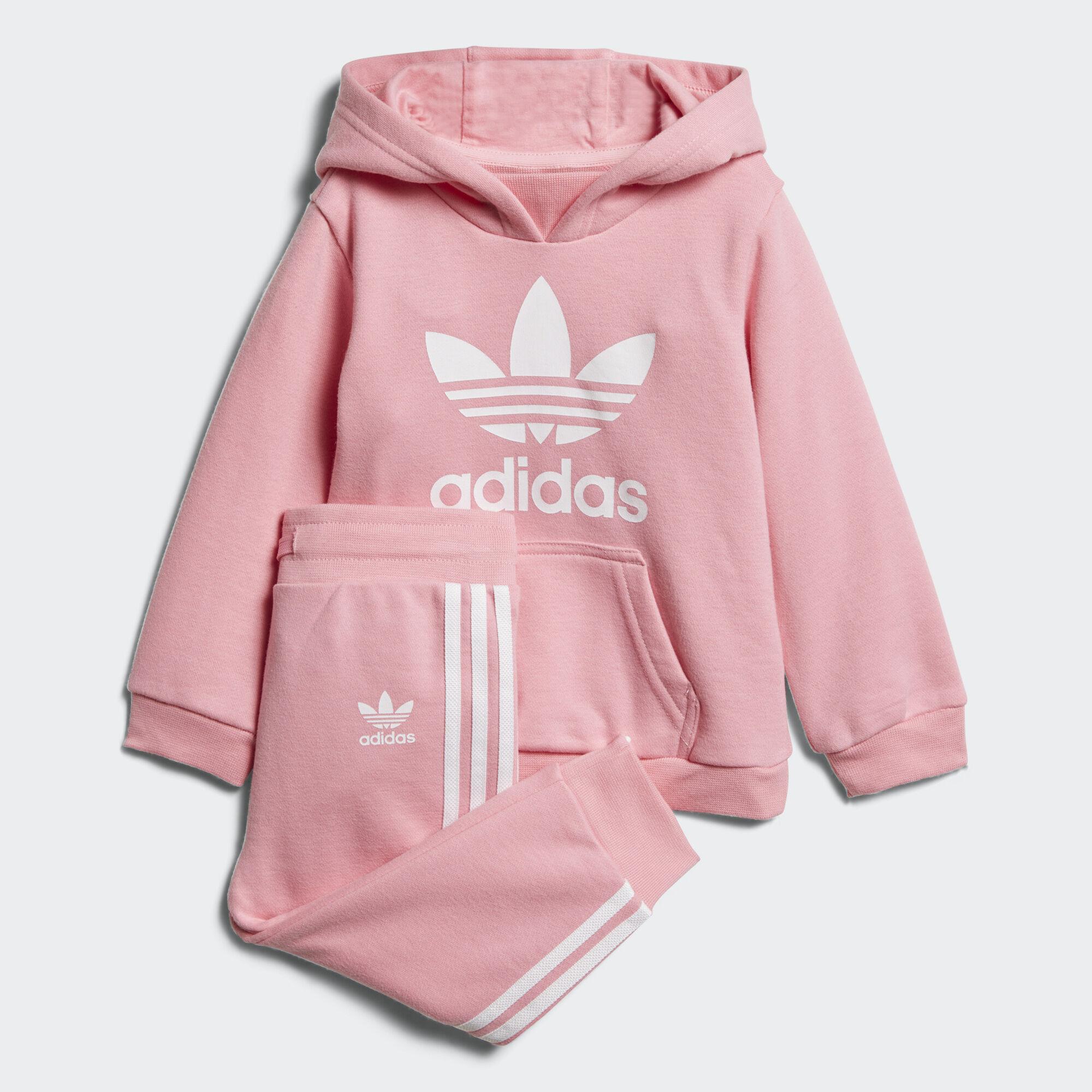 Adidas Trefoil Hoodie Set Pink Adidas Asia Middle East