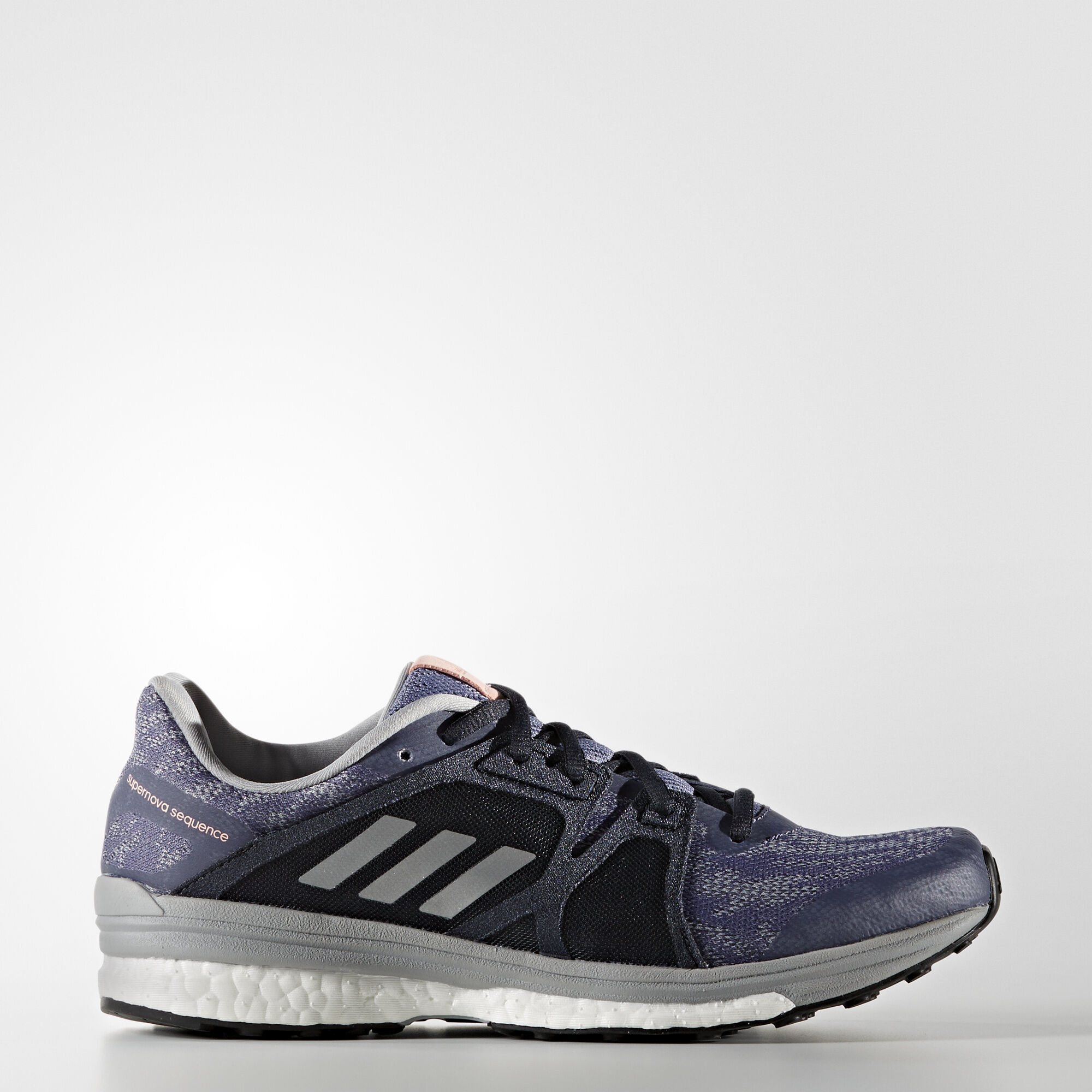 b972cb55b2d8cc adidas - Supernova Sequence 9 Shoes Super Purple Silver Metallic Mid Grey  BB1617. Women Running