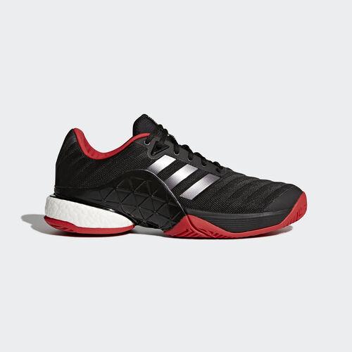 adidas - Barricade 2018 Boost Shoes Core Black/Night Metallic/Scarlet CM7829