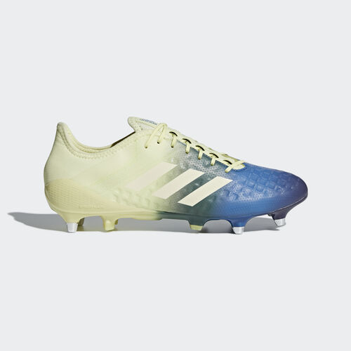 adidas - Predator Malice Control Soft Ground Boots Ice Yellow   Cream White    Trace Royal. Men Rugby 36ebcbccd323d