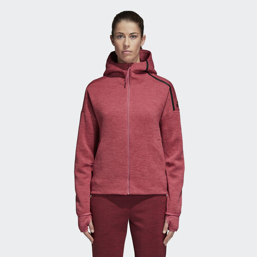 adidas - adidas Z.N.E. Fast Release Hoodie Zne Htr/Trace Maroon CW5745