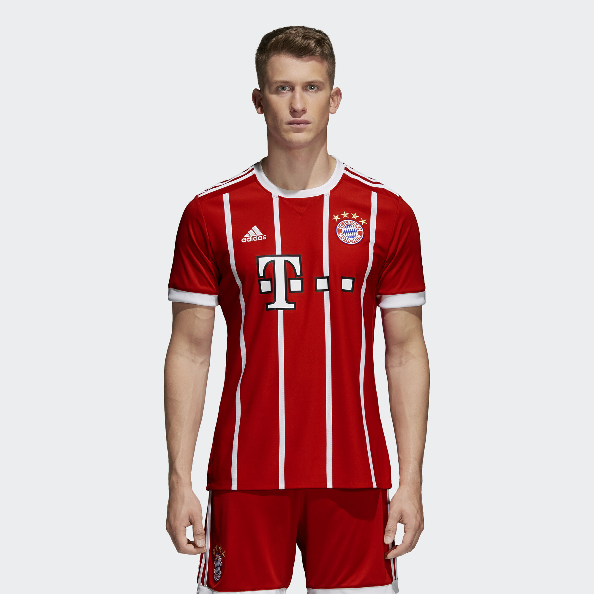 adidas fc bayern munich home jersey red adidas regional. Black Bedroom Furniture Sets. Home Design Ideas
