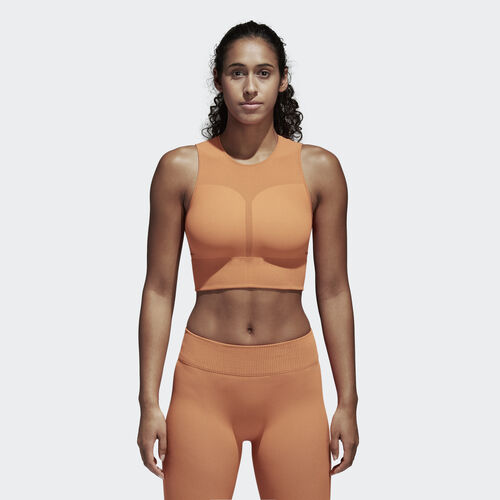 adidas - Warp Knit Crop Top Hi-Res Orange/Black CD3096