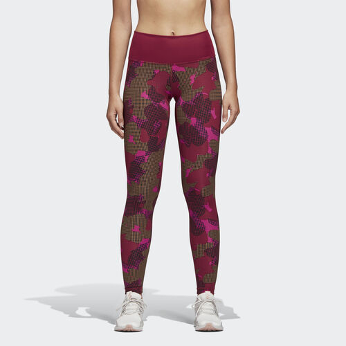 adidas - Believe This Tights Noble Maroon / Print CX0010