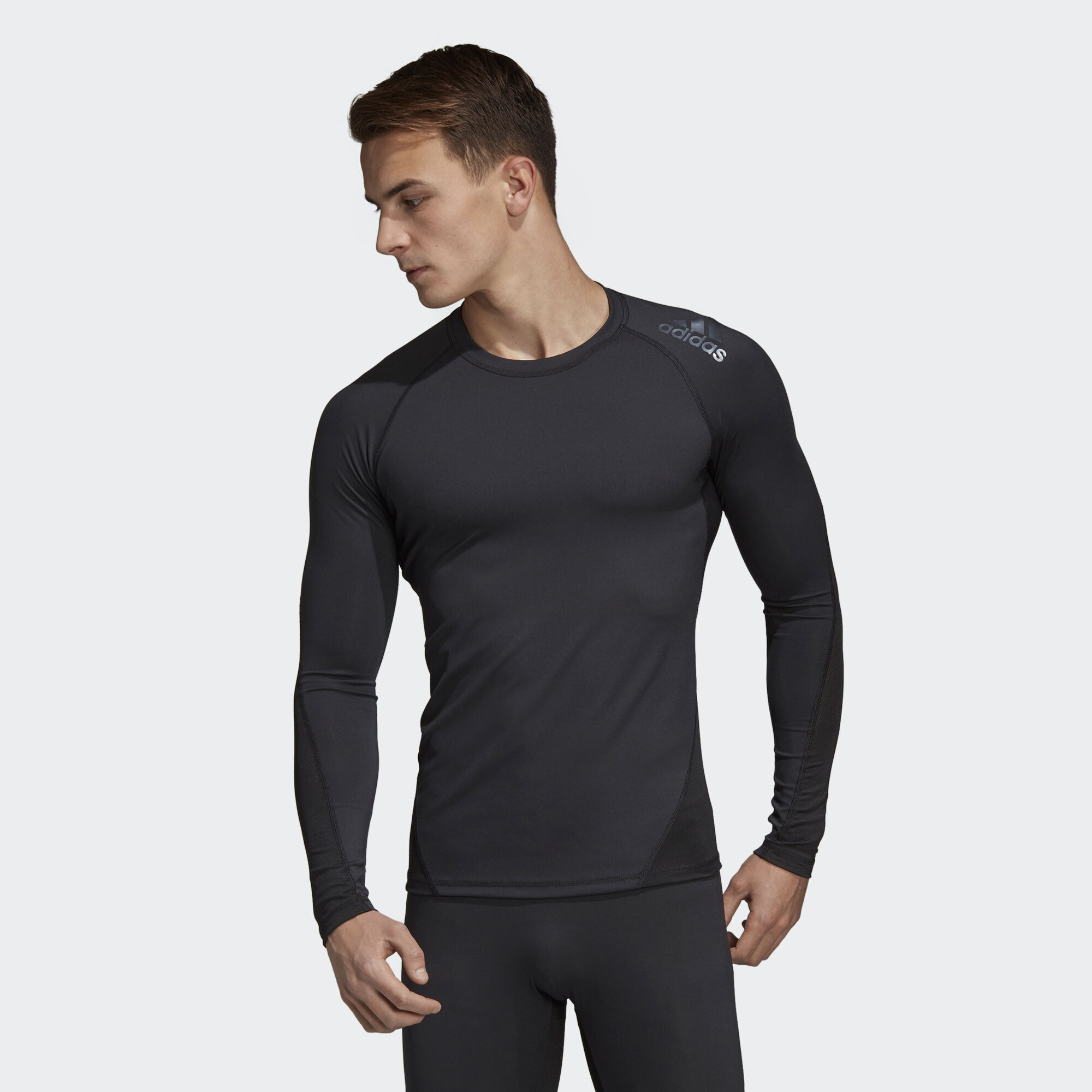 adidas Performance ALPHASKIN SPORT TEE - Camiseta de deporte - black hYRF2