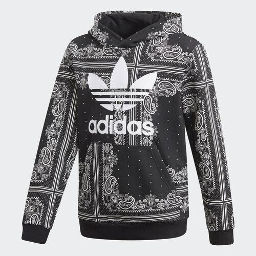 adidas - Bandana Hoodie Black / White DW3832