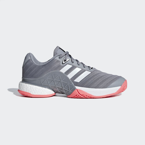 adidas - Barricade 2018 Boost Shoes Matte Silver / Ftwr White / Scarlet AH2094