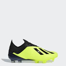 b2607501e963e adidas - Botas de Futebol X 18.1 – Piso Firme Solar Yellow / Core Black ...