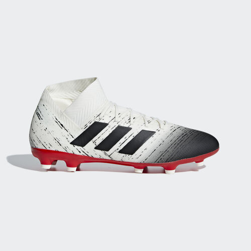 adidas - Nemeziz 18.3 Firm Ground Boots Off White / Core Black / Active Red BB9437
