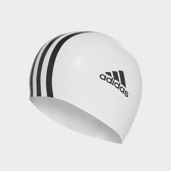 3 stripes silicone swim cap Branco 802309
