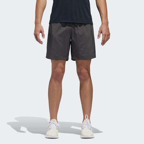 adidas - Own the Run Shorts Grey Six / Black DQ2558