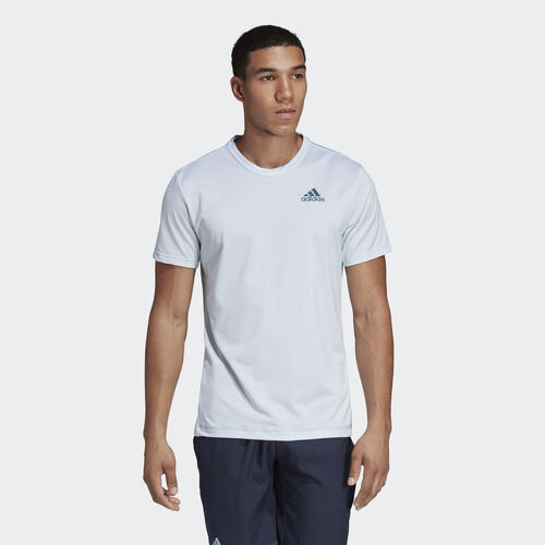 adidas - Parley Striped Tee White / Easy Blue DT4185