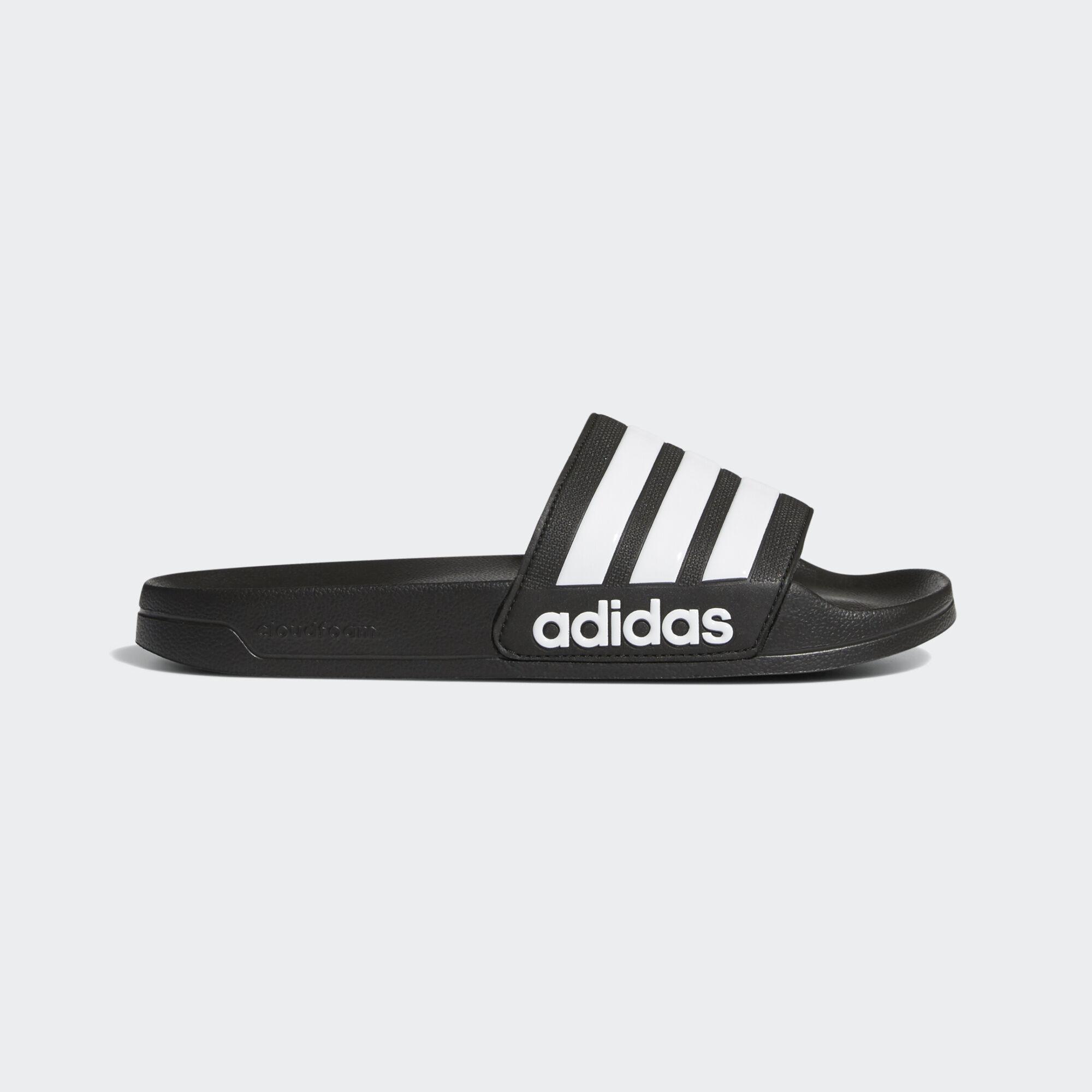 8c73042728bcbf adidas - Adilette Cloudfoam Slides Core Black Ftwr White Core Black AQ1701