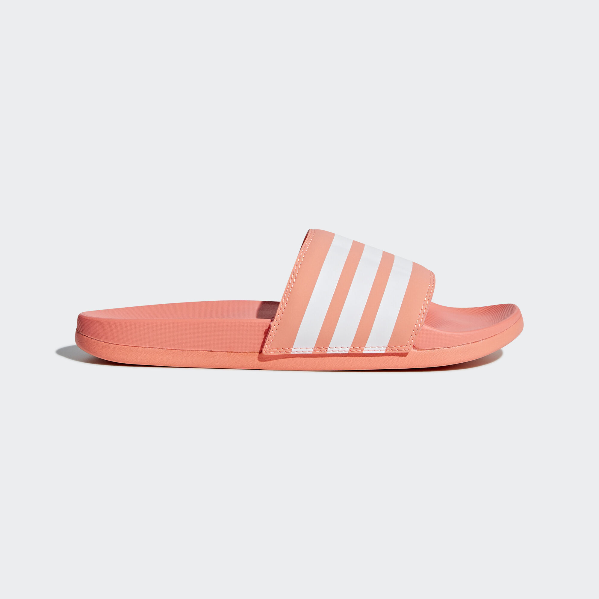 wholesale dealer 63dc5 1e41b adidas - Adilette Cloudfoam Plus Stripes Slides Pink  Ftwr White  Chalk  Coral B43528. Women Essentials