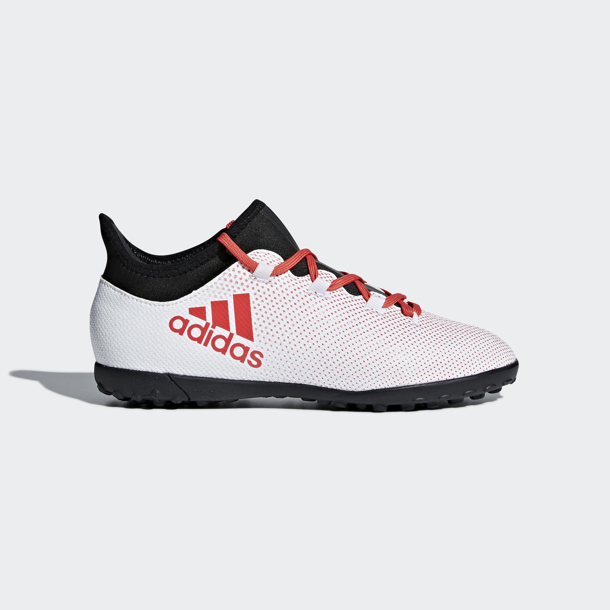 adidas - X Tango 17.3 Turf Boots Grey/Real Coral/Core Black CP9025. Kids  Football