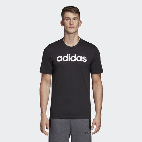 adidas - Essentials Linear Logo Tee Black / White DU0404