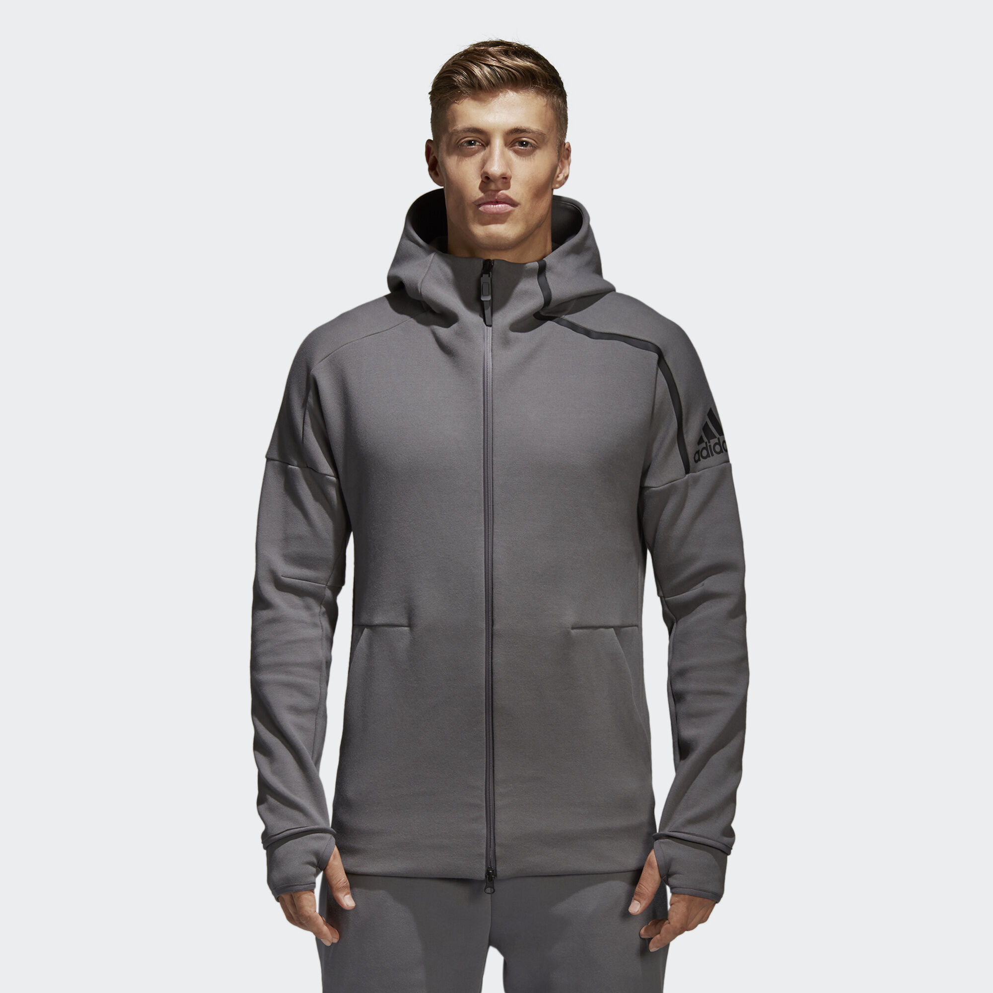 adidas - adidas Z.N.E. Hoodie 2 Grey Four CE4260. Men Athletics