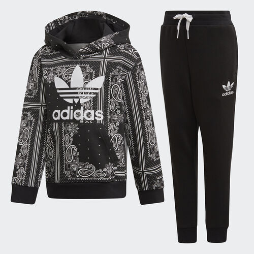 adidas - Bandana Hoodie Set Black / White DW3848