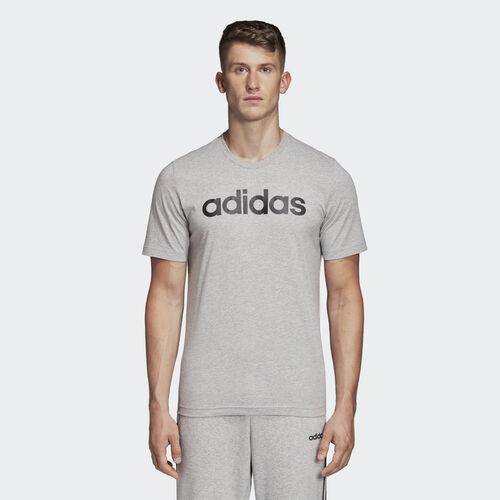 adidas - Essentials Linear Logo Tee Medium Grey Heather / Black DU0409