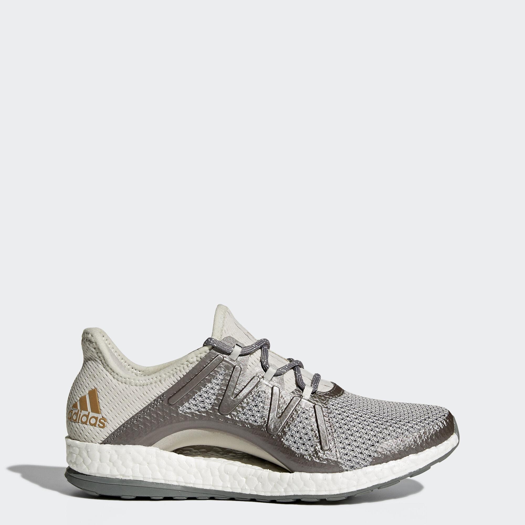 adidas - PureBOOST Xpose Shoes Grey One/Grey Three/Tactive Gold Metallic  BA8271. Women Running