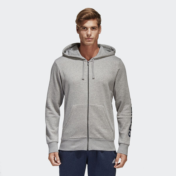 Essentials Linear Hoodie Γκρι S98794