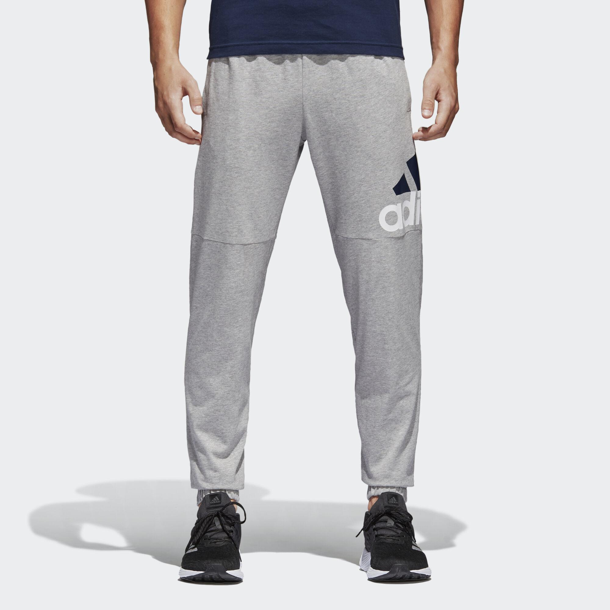 58d00af54e4c2 adidas - Essentials Performance Logo Pants Medium Grey Heather/White/Black  BK7409
