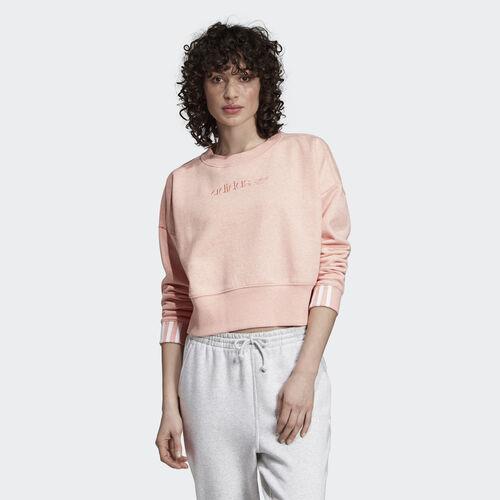 adidas - Coeeze Cropped Sweatshirt Trace Pink DU7182