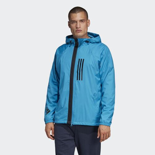 adidas - ID WND Jacket Fleece-Lined Shock Cyan DZ0053