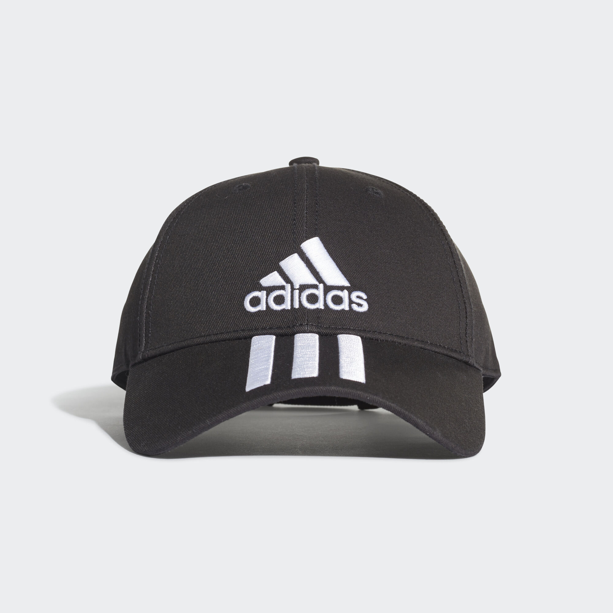 adidas - Six-Panel Classic 3-Stripes Cap Black   White   White DU0196 f82d9d87a07a
