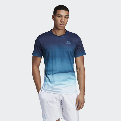 adidas - Parley Printed Tee Easy Blue / White DP0287