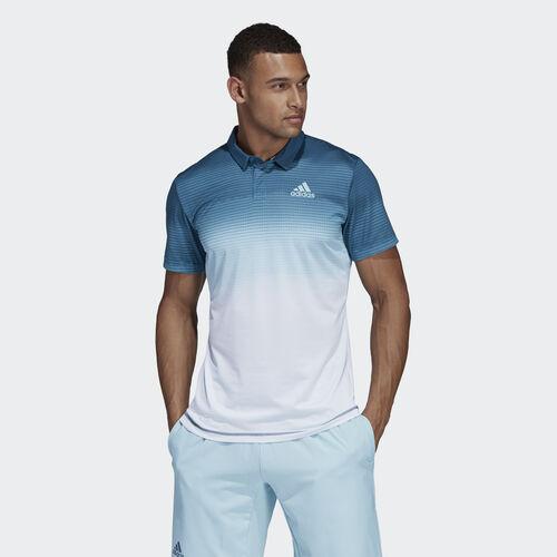 adidas - Parley Polo Shirt Easy Blue / White DP0288