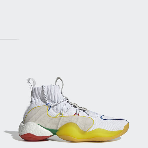 Pharrell Williams Crazy BYW LVL X Shoes, , zoom, (Ftwr White / Yellow), 28 March