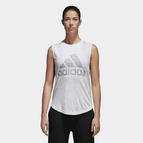 adidas - ID Winners Muscle Tee White / Mgh Solid Grey CF7076
