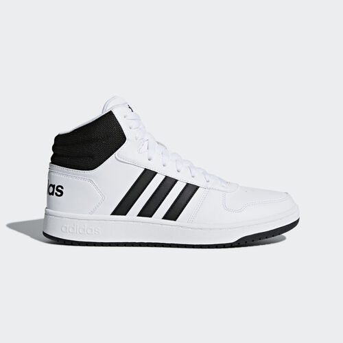 adidas - Hoops 2.0 Mid Shoes Ftwr White / Core Black / Core Black BB7208