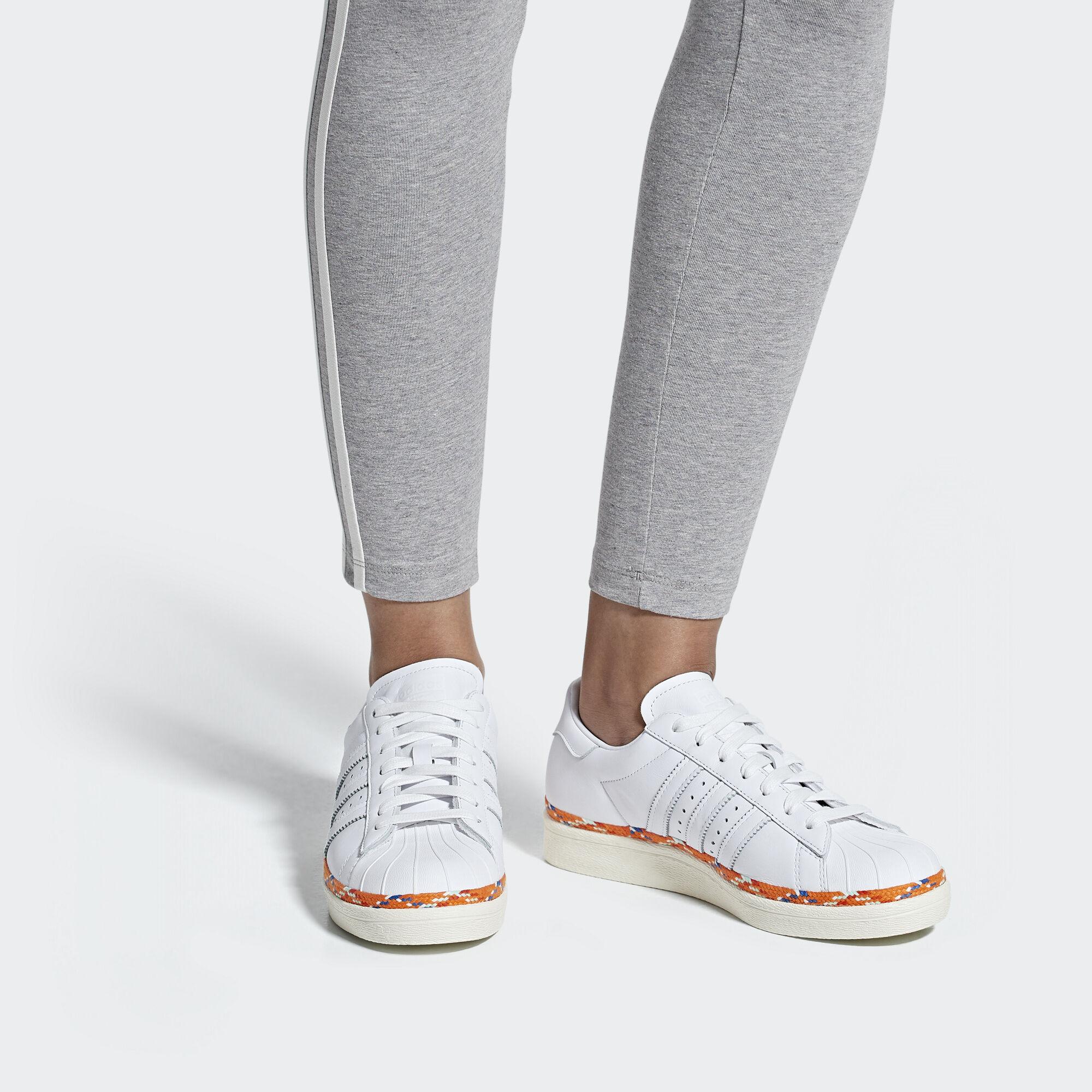 adidas Sapatos Superstar 80s New Bold - Branco  9b2b50a8ba0e9