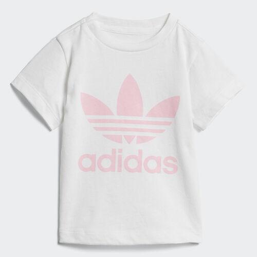 adidas - Trefoil Tee White / Light Pink D96102
