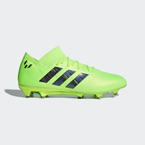 adidas - Nemeziz Messi 18.1 Firm Ground Boots Solar Green / Core Black / Solar Green DA9586