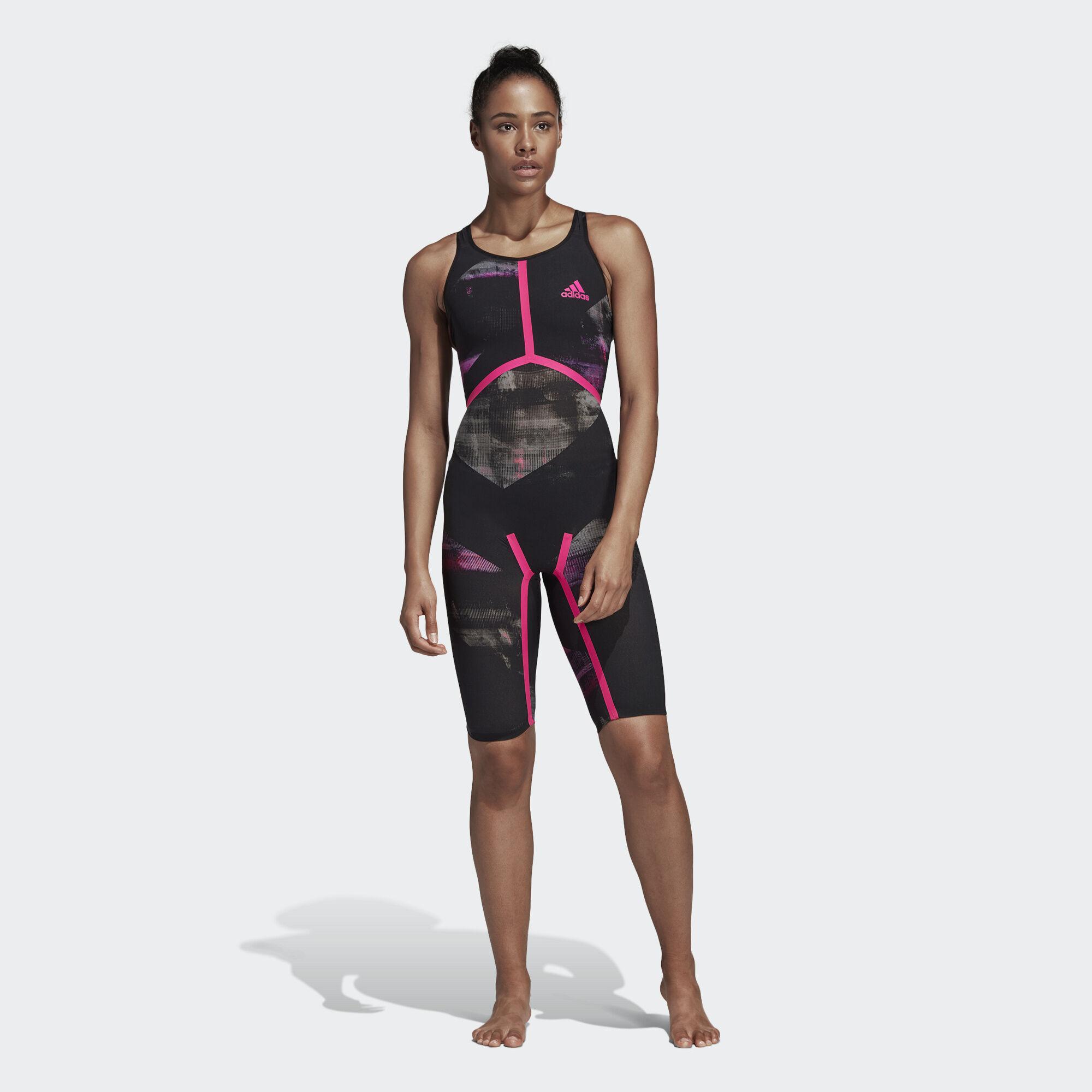 99f07ddb63858 adidas - Adizero XVIII Freestyle Swimsuit Black Shock Pink CD5235