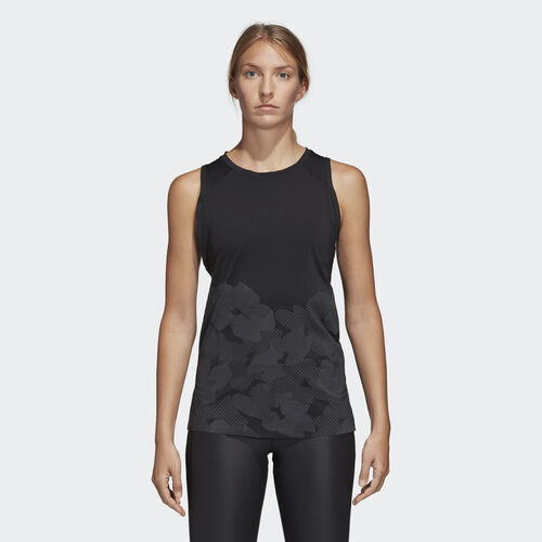 adidas - Open Back Tank Top Black DH2364
