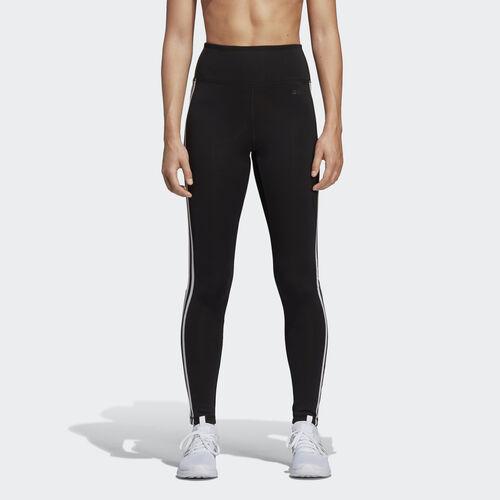 adidas - Design 2 Move 3-Stripes High-Rise Long Tights Black DU2040