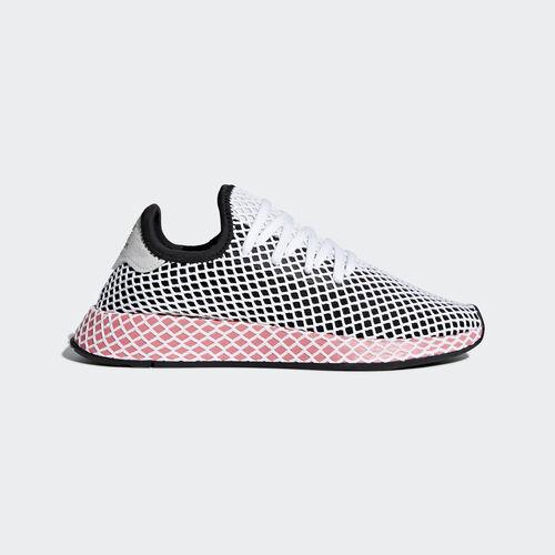 new concept d0352 8333f adidas - Deerupt Runner Shoes Core BlackCore BlackChalk Pink CQ2909