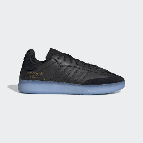 adidas - Samba RM Shoes Core Black / Shock Cyan / Gold Met. BD7476