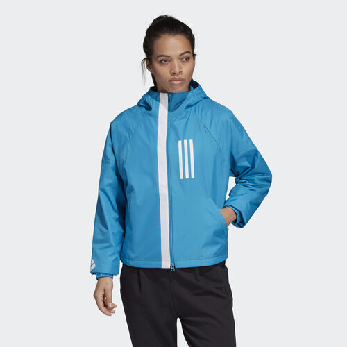 adidas - adidas W.N.D. Fleece-Lined Jacket Shock Cyan DZ0035