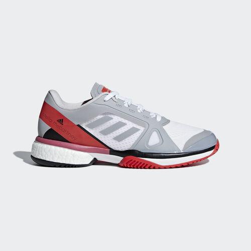 adidas - adidas by Stella McCartney Barricade Boost Shoes Mid Grey / Mid Grey / Core Red AC8259
