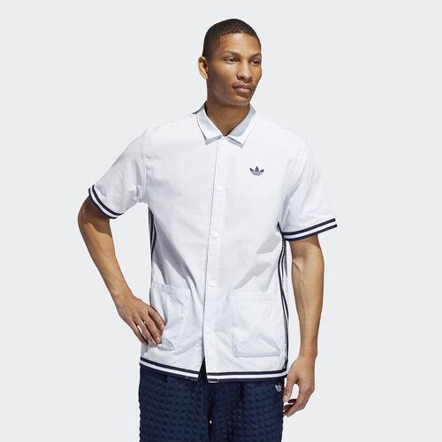 adidas - Seersucker Shooting Shirt Ash Grey / White DV3108
