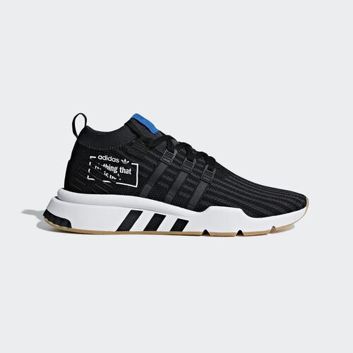 adidas - EQT Support Mid ADV Shoes Core Black / Core Black / Bluebird B37413